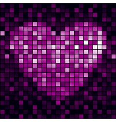 heart shiny mosaic vector image