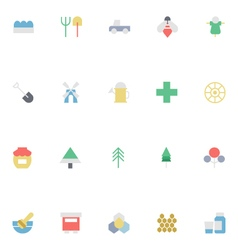 Agriculture colored icons 3 vector