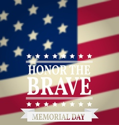Happy memorial day memorial day greeting card vector