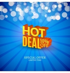 Hot deal sale 3d letters poster promotional vector