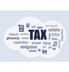 Tax cloud vector