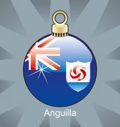 Anguilla flag on bulb vector image vector image