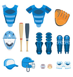 Baseball protect equipment vector