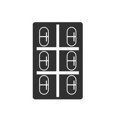 Black icon on white background capsule pack vector