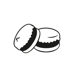 Black simple macarons icon isolated vector image