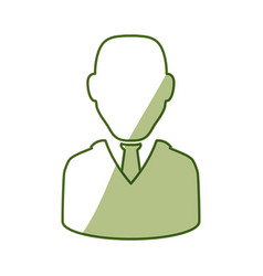 Businessman executive avatar vector
