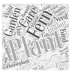 Choosing an indoor houseplant word cloud concept vector