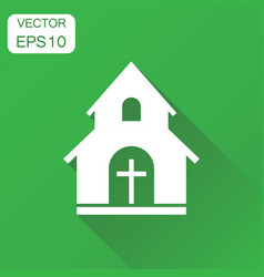 Church sanctuary icon business concept church vector