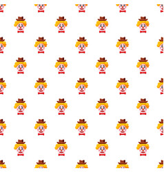 Clown face with hat pattern vector