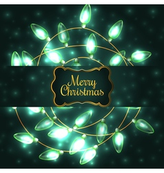 Colorful Green Glowing Christmas Lights elements vector image vector image