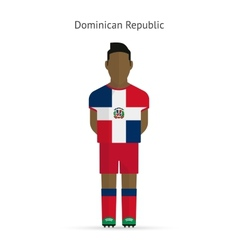 Dominican republic football player soccer uniform vector
