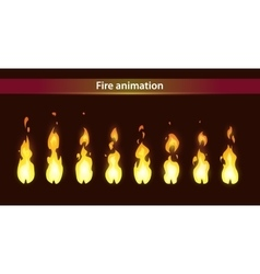 Fire animation sprites vector image vector image