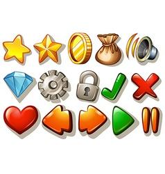Gaming icon set vector image