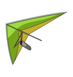 Hang glidingextreme sport single icon in cartoon vector