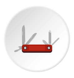 multitool knife icon circle vector image