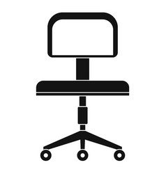 Office a chair with wheels icon simple style vector