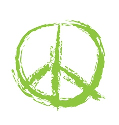 Peace Sign Brushed vector image vector image