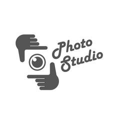 photography camera concept logo icon vector image