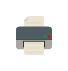 Printer office object instrument icon vector