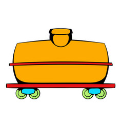 Railroad tank icon icon cartoon vector