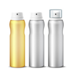 realistic cosmetic spray can aluminium can vector image