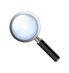 Realistic magnifying glas vector
