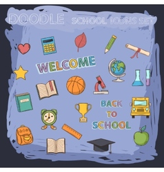 School set vector image