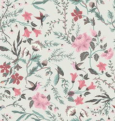 Seamless fairy floral pattern vector