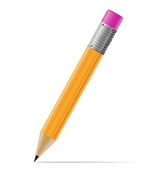 sharpened pencil 01 vector image vector image