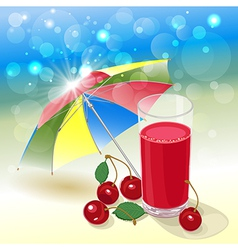 solar cherry vector image vector image