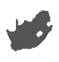 south africa map black icon on white background vector image