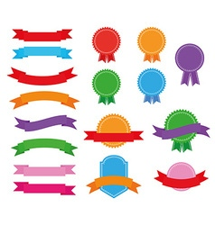Stickers badges and ribbons vector image vector image