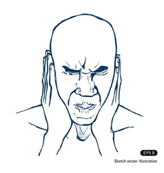 Stressed man vector image