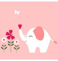 Valentine Elephant vector image