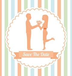 Wedding invitation design vector