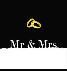 wedding rings metal gold vector image