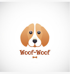 woof-woof sign emblem or logo template vector image
