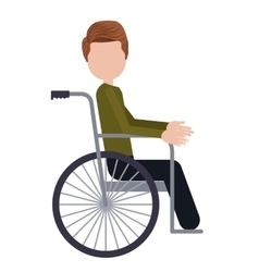 Wheelchair for disabled person isolated icon vector