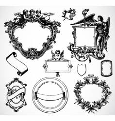 victorian ornament set vector image