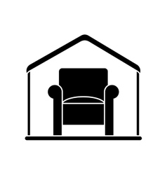 Isolated chair inside house design vector