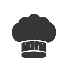 silhouette hat chef cooking restaurant vector image