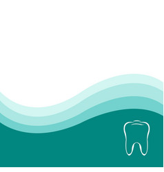 Dental green background vector