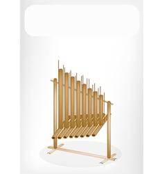 Musical angklung banner vector