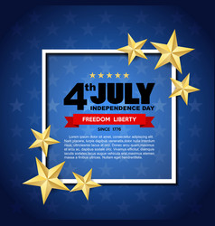 independence day design element vector image