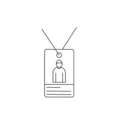 Person id card linear icon vector