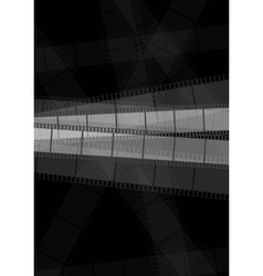 Dark monochrome filmstrip abstract background vector