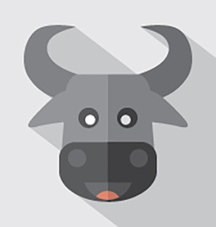 Modern flat design buffalo icon vector