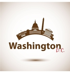 Silhouette of washington dc usa vector