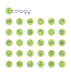 Round ecology icons vector