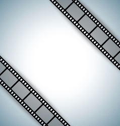Film strip document template vector